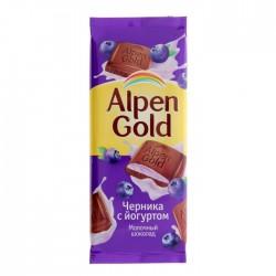 """Шоколад """"Альпен Голд"""" йогурт/черника 90 гр."""