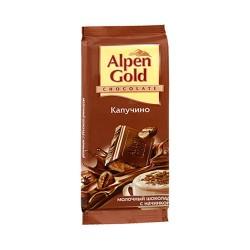 """Шоколад """"Альпен Голд"""" начин/капуч 90 гр."""