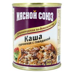 Каша гречневая с говядиной 340 гр.