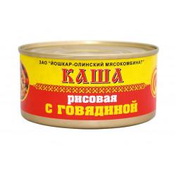 """Каша рисовая с говядиной  """"ЙОШКАР-ОЛА"""" ГОСТ 325 гр."""