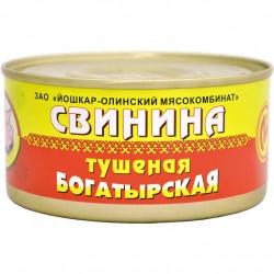 """Свинина тушеная богатырская  ж/б """"Йошкар-Ола"""" 325 гр."""