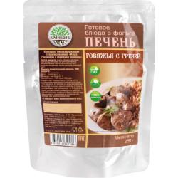 """Консервы """"КРОНИДОВ"""" Каша гречневая с говяжьей печенью 250 гр."""