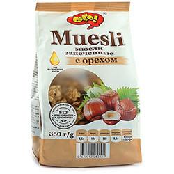 Мюсли запеченные с орехом 350 гр.