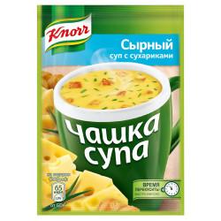 Сырный суп с сухариками 16 гр.