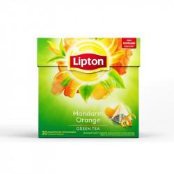"""Чай """"Липтон"""" пирамидки зеленый мандарин 20 пак."""