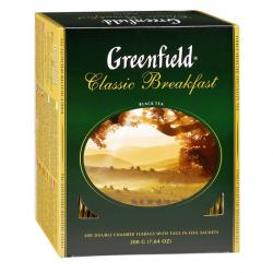 Чай Гринфилд Классический завтрак 100 пак.
